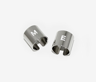 M.E Silver Initial Pipe Ring