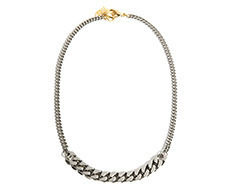Usaual Bold Chain & Thin Chain Necklace