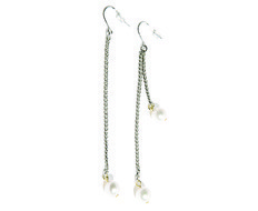 usual drop pearl earrings