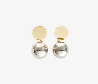 Drop Bold Earrings - METAL