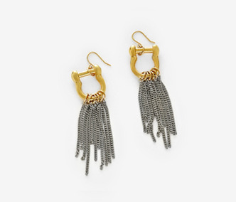 Dropped Chain Link Earrings