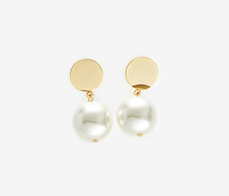 Drop Bold Earrings - PEARL