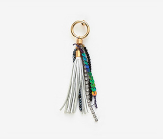 Leather Tassel Single Earring