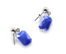 Colorful Stone Silver Earrings