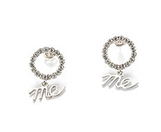 [유주얼엠이] Circle Cubic Drop Me Earrings