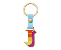 Stickery Initial Key Ring J