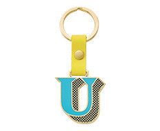 Stickery Initial Key Ring U