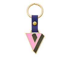 Stickery Initial Key Ring V