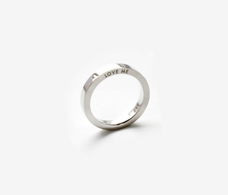 Love Me Silver Ring For Single