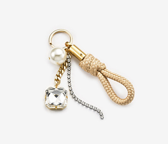 [Monday Edition] Pearl And Crystal Rope Key Ring (20%off)