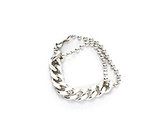 [usual ME] usual silver ball and chain ring (15%off)