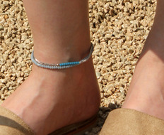 beads and chain anklet