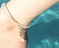 usual drop me pearl chain anklet
