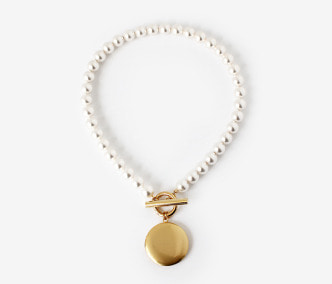 Big Loket Pearl Necklace