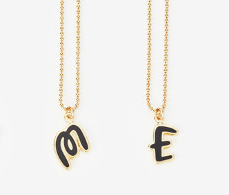 [ME x Chocomoo] Witty initial necklace