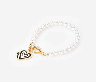 [ME x Chocomoo] heart of teddy pearl bracelet