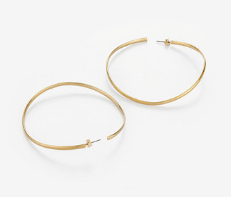 Wave Big Circle Earrings