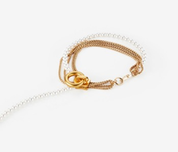 [Monday Edition] Pearl & Chain Zipper Bracelet (20%off)