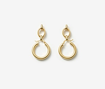 [Monday Edition] Linked Chunky Hoop Earrings