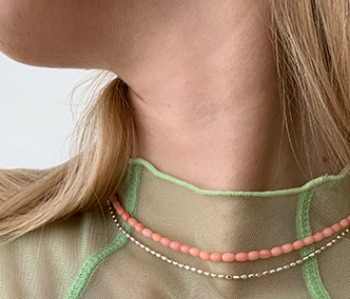 [usual ME] Corallites Choker - baby pink