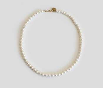 The Basic Pearl Becklace  6mm (15% off) (2주예약배송)