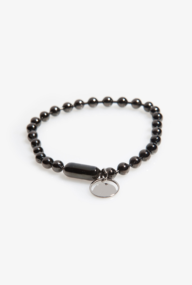black ball chain bracelet